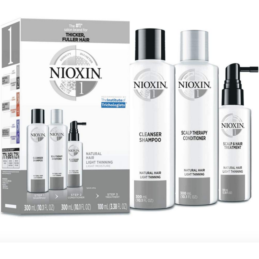 Nioxin System 1 Kit for natural, non-colored hair with light thinning
