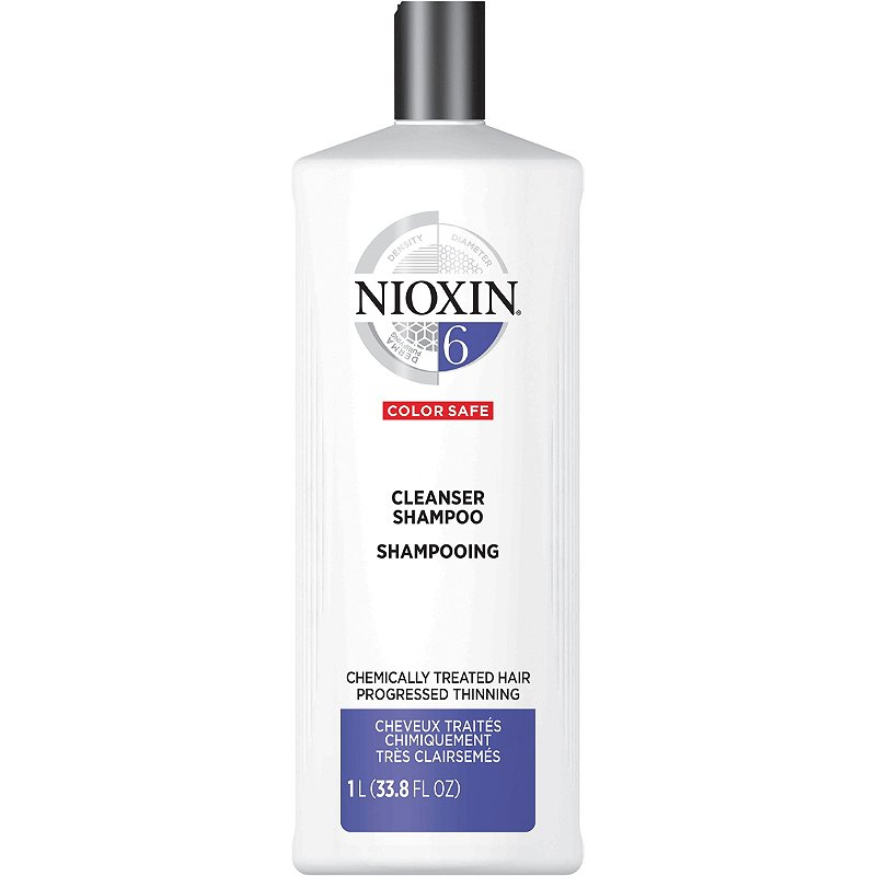 Nioxin System 6 Cleanser for Chemically Treated, Progressed Thinning Hair