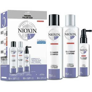 Nioxin System 5 Kit for Chemically Treated, Light and Thinning Hair