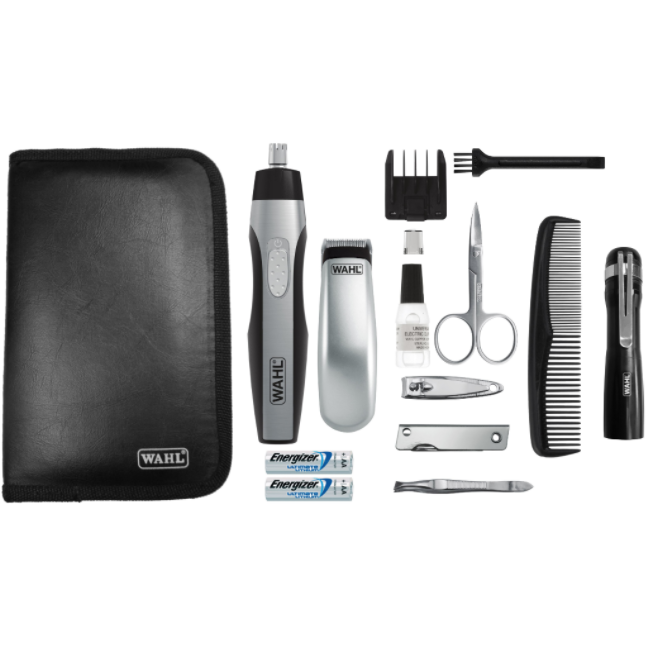 Wahl Barbers Lithium Travel Grooming Kit