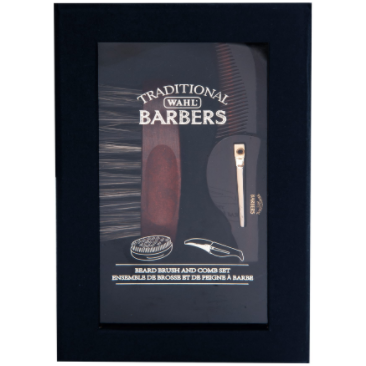 Wahl Barbers Badger Beard Brush and Comb Set