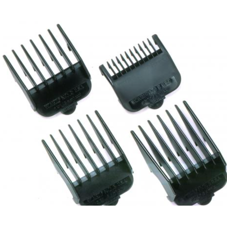 Wahl Black Clipper Guides Set of 4  (#1 - #4)