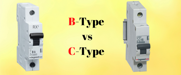 1. Difference between B-Type & C-Type MCB