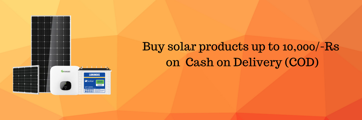 Order Solar Panels on Cash on Delivery (COD)