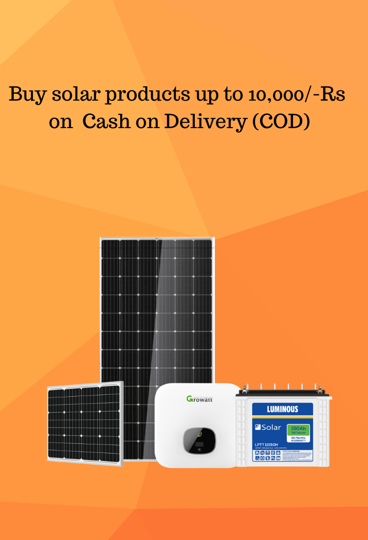 Solar Panels on Cash on Delivery