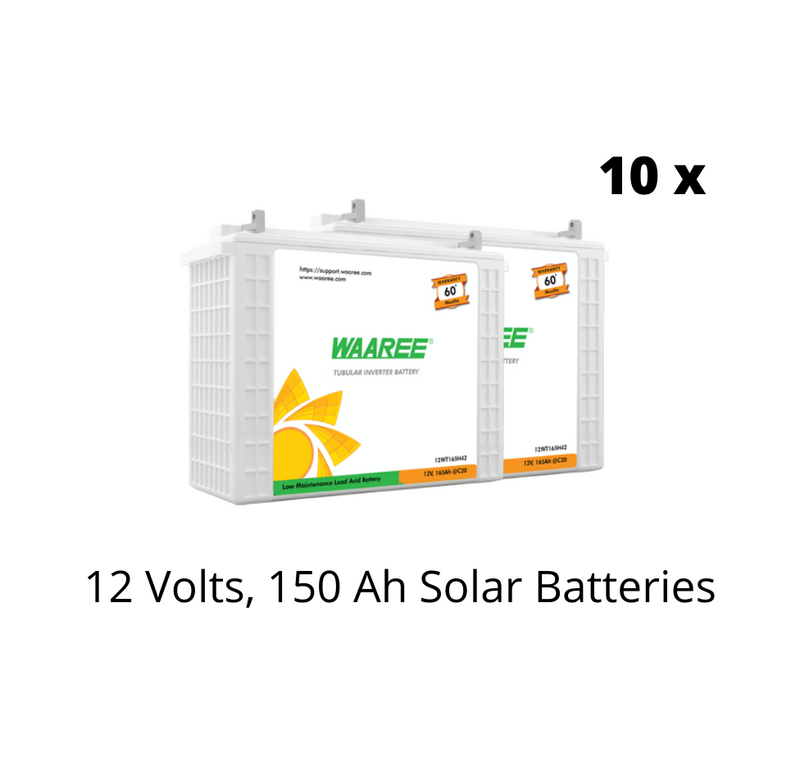Waaree Energies 9.8 Kilo Watt OFF-GRID Solar System Kit - Apollo Universe