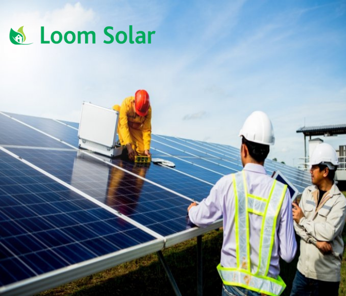 Loom Solar 5 kilowatt offgrid solar rooftop system installation with 1 Year AMC - Apollo Universe