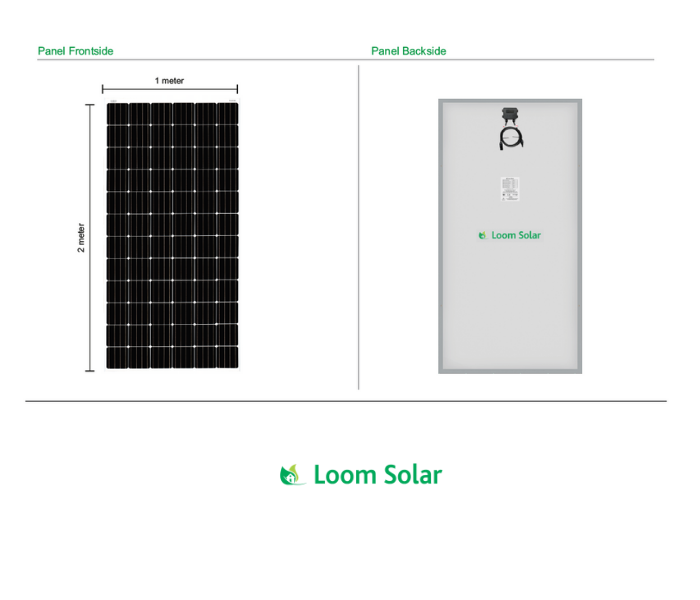 Loom Solar 5 kilowatt on grid (grid tie) solar rooftop system installation with 1 Year AMC - Apollo Universe