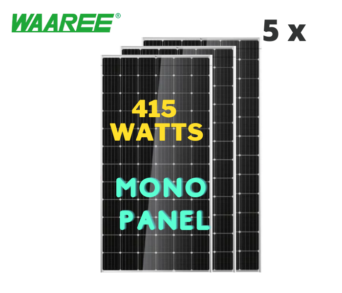 Waaree Energies 2 kilowatt offgrid solar rooftop system installation, Mono-Crystalline - Apollo Universe