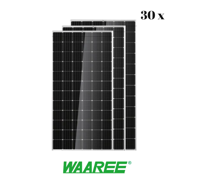 Waaree Energies 415 Watt - 24 Volts Mono Crystalline Solar Panel (Pack of 30,12.45 kW) - Apollo Universe