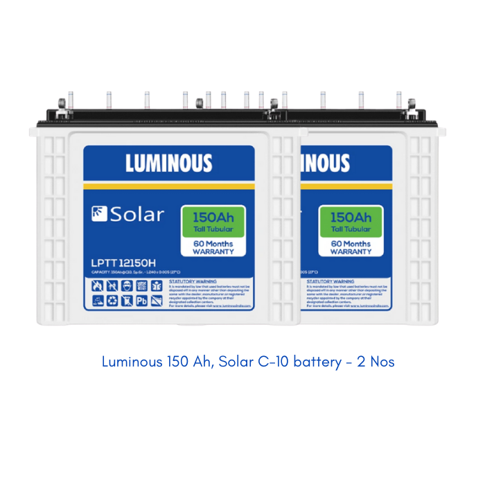 Luminous Solar 1 kW, Poly-Crystalline off-grid combo kit (without installation) - Apollo Universe