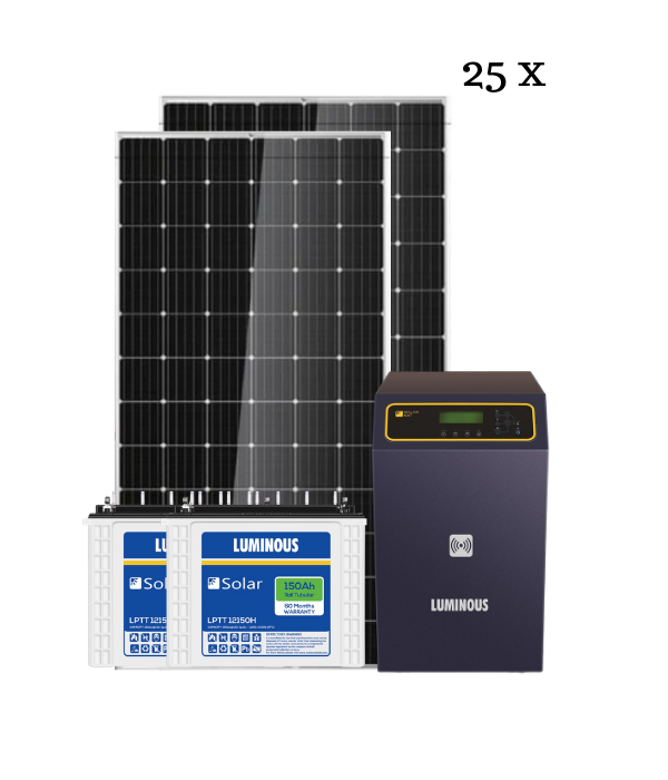 Luminous Solar 10 KW Solar Rooftop off-grid Kit, BIS Certified - Apollo Universe