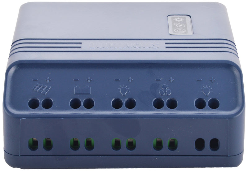 Luminous Solar Charge Controller 10 Amp - Blue, SCC1210 with USB port - Apollo Universe