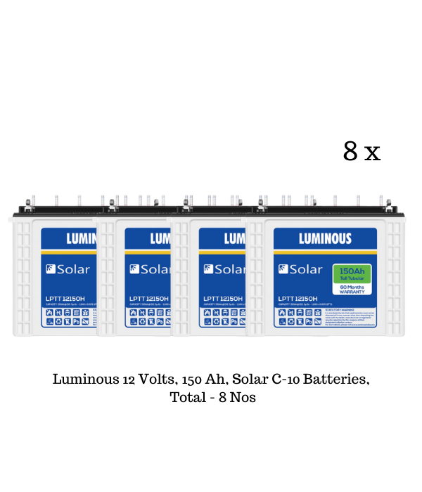 Luminous Solar 5.7 KW, 1-Phase Mono Crystalline Solar Off-Grid Combo Kit, BIS Certified - Apollo Universe