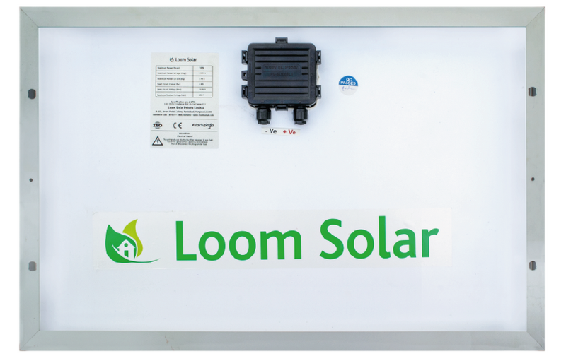 Loom Solar 50 Watt - 12 Volts Mono Crystalline Solar Panel (Pack of 5) - Apollo Universe