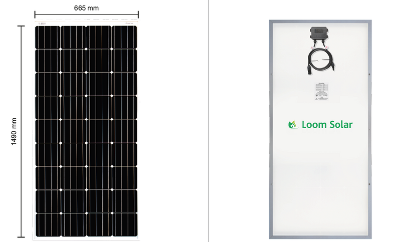 Loom Solar 180 Watt - 12 Volts Mono Crystalline Solar Panel - Apollo Universe