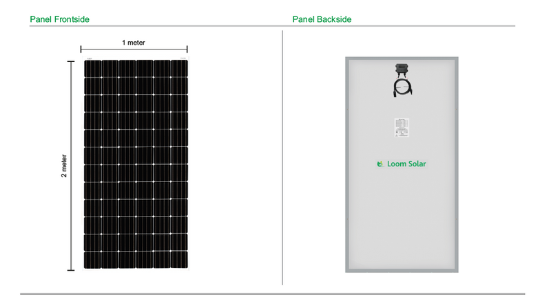 Loom Solar 375 Watt - 24 Volts Mono Crystalline Solar Panel (Pack of 3) - Apollo Universe