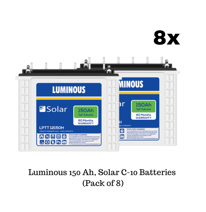Luminous Solar 5.7 Kilowatt, 1-Phase Off-Grid Mono-Crystalline Solar System - Apollo Universe