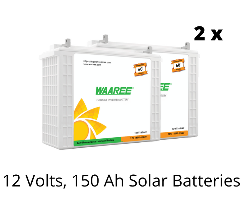 Waaree Energies 1 Kilo Watt OFF-GRID Solar System Kit - Apollo Universe
