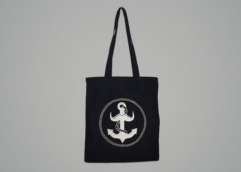 Logo Cotton Shopper Tote Bag