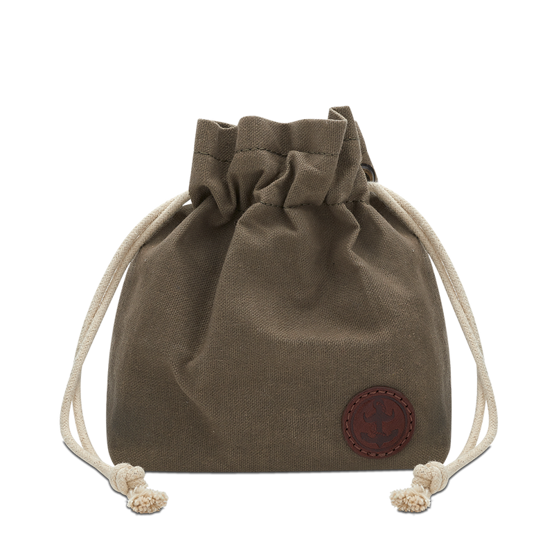 Waxed Canvas Duffle Pouch, Mens washbag