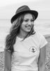 Brighton Beard Co Logo LADIES slub tee black white