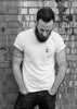 Brighton Beard Co Logo MENS slub tee black white