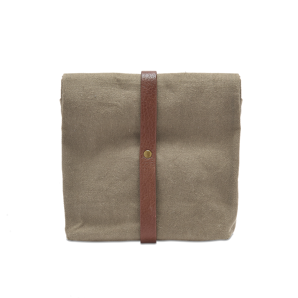 Waxed Canvas Roll down Ditty wash bag, Mens wash bag