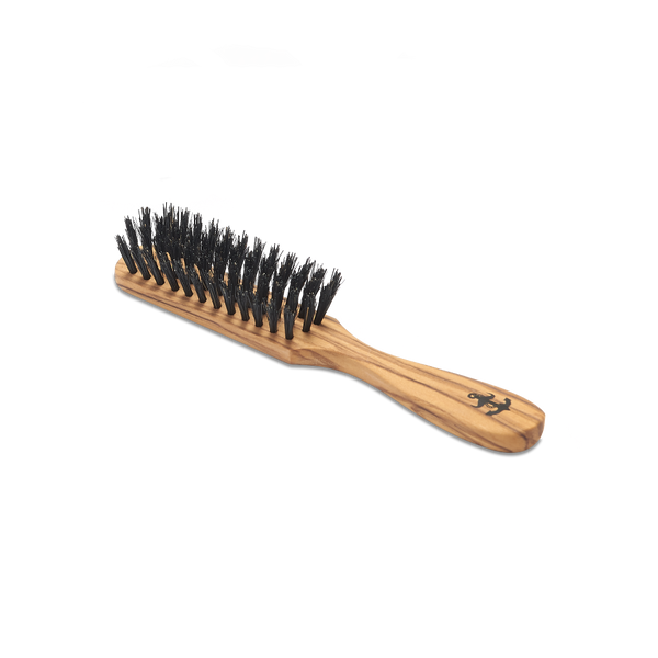 boar bristle beard brush olive handle