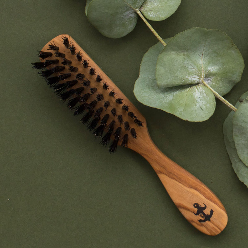 beard brush olive wood