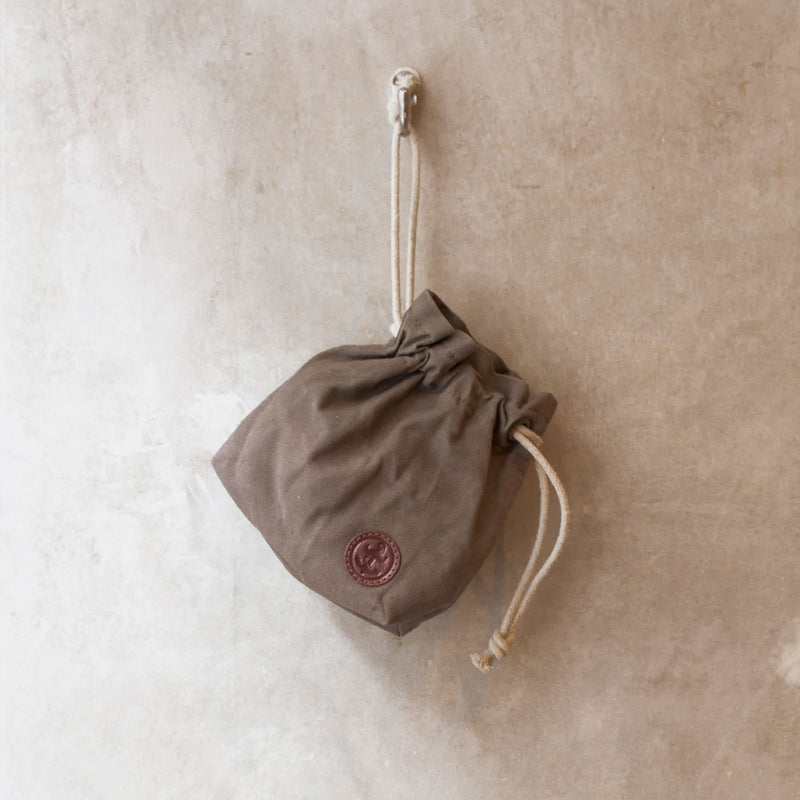 duffle waxed cotton drawstring