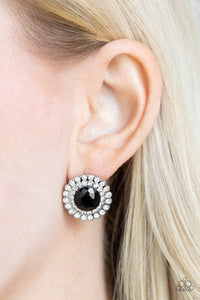 My Second Castle - Black POST back Earrings Paparazzi Accessories New
