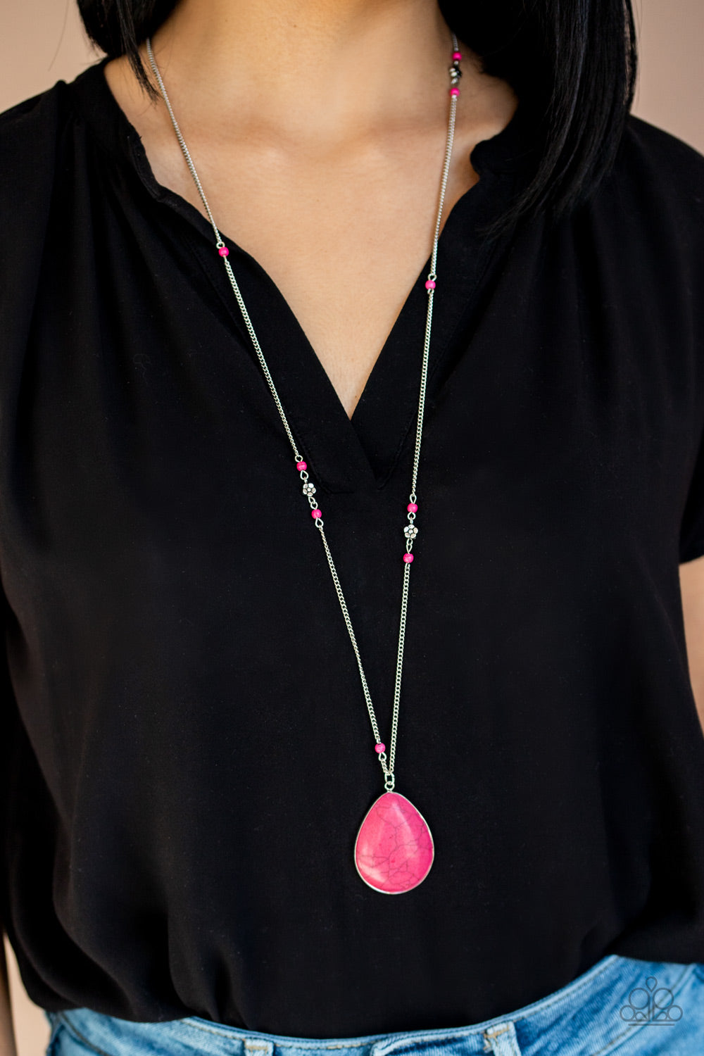 Paparazzi Desert Meadow Pink Necklace