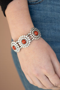 Paparazzi Bountiful Blossoms - Brown Bracelet
