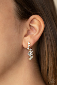 Paparazzi Cosmic Combustion Stars Gold Earrings