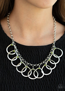 Drop By Drop - Green necklace Paparazzi Accessories New