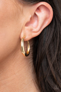 Lay It On Thick - Gold Earrings Paparazzi Accessories New