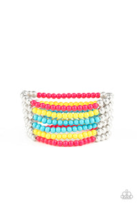 Paparazzi LAYER It On Thick - Multi Colored Stretch Bracelet