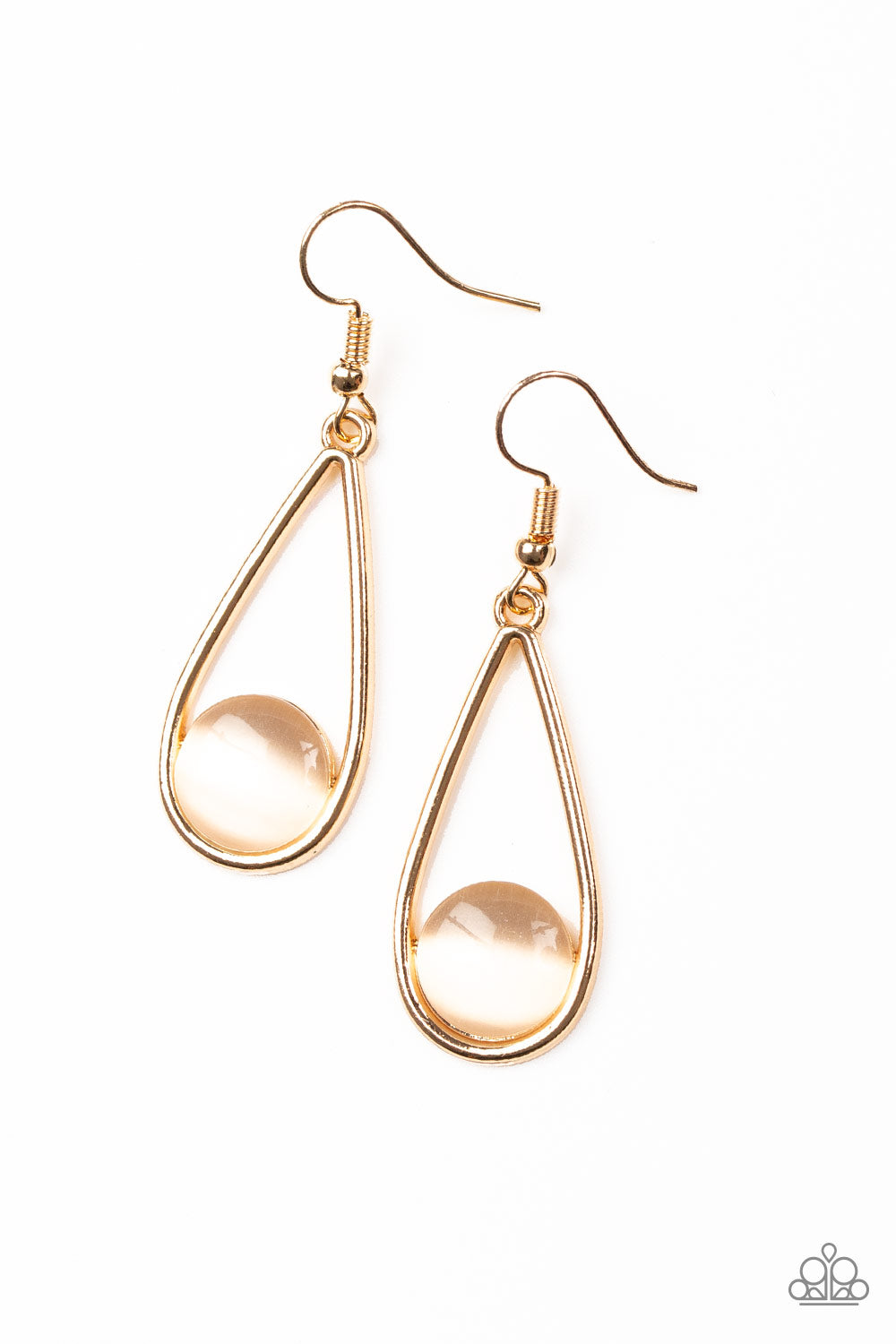 Paparazzi Over The Moon Gold Earrings