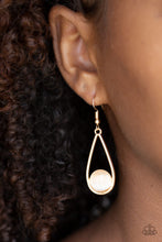 Load image into Gallery viewer, Paparazzi Over The Moon Gold Earrings