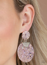 Load image into Gallery viewer, Really Retro-politan - Pink Acrylic Earrings Paparazzi Accessories New