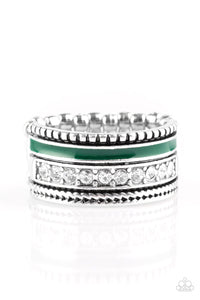 Rich Rogue - Green ring Paparazzi Accessories New