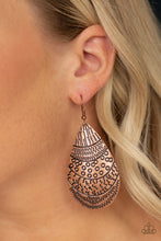 Load image into Gallery viewer, Safari Splash Copper Earrings