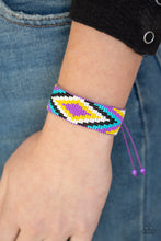 Load image into Gallery viewer, Paparazzi Beautifully Badlands - Purple Seed Bead Bracelet