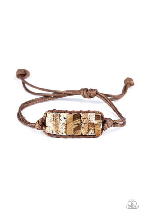 Canyon Warrior - Brown Bracelet Paparazzi Accessories New