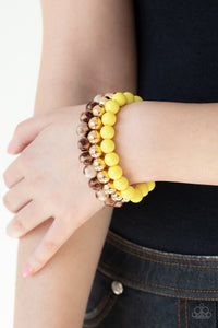 Courageously Couture Yellow Bracelet
