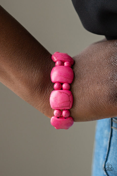 Dont Be So NOMADIC! - Pink Bracelet Paparazzi Accessories New