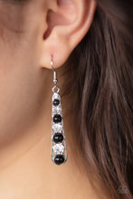 Load image into Gallery viewer, Paparazzi Drawn Out Drama Black Earrings
