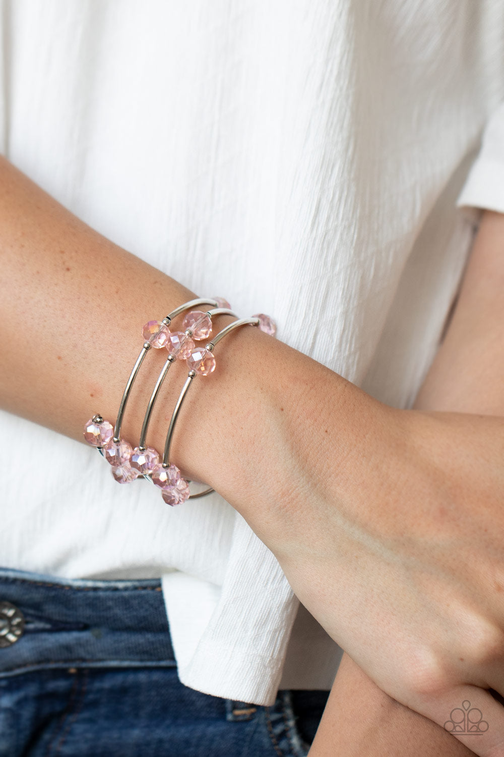 Dreamy Demure - Pink Bracelet Paparazzi Accessories New