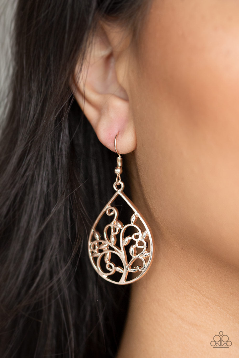 Enchanted Vines Rose Gold Earrings